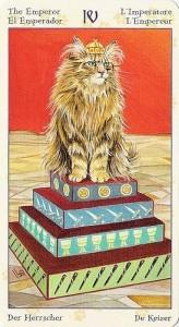 4 Император Таро Языческих Кошек (Tarot of Pagan Cats)