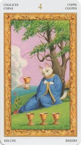 4 Масть Кубков Таро белых кошек (Tarot of White Cats)
