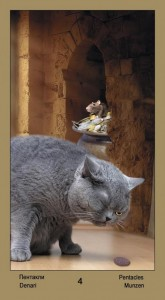 """4 Масть Пентаклей Таро """"Катавасия"""" (Tarot Cat-A-Vasya)"""