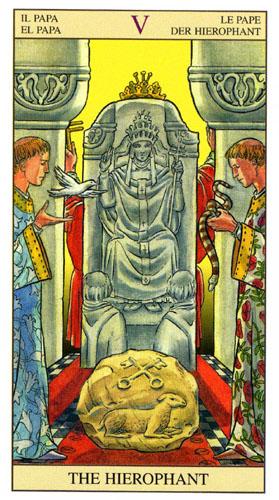 Иерофант Жрец Старшие Арканы Таро Нью Вижн (Tarot of the New Vision)