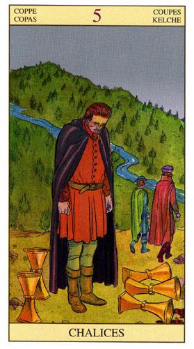 5 Масть Кубков Таро Нью Вижн (Tarot of the New Vision)