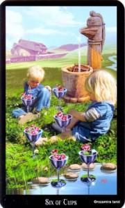 6 Кубков Колдовское Таро Элен Дюген