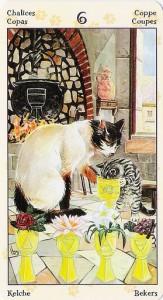 6 Кубков Таро Языческих Кошек (Tarot of Pagan Cats)