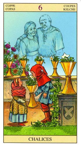 6 Масть Кубков Таро Нью Вижн (Tarot of the New Vision)