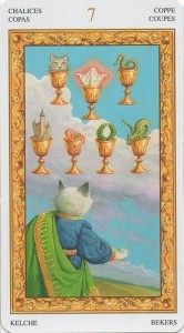 7 Масть Кубков Таро белых кошек (Tarot of White Cats)