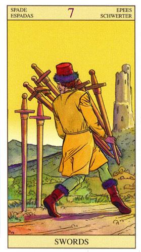 7 Масть Мечей Таро Нью Вижн (Tarot of the New Vision)