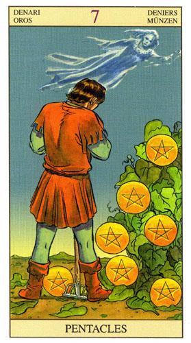 7 Масть Пентаклей Таро Нью Вижн (Tarot of the New Vision)