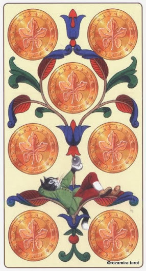7 Масть Пентаклей Таро Марсельских кошек (Marseille Cat Tarot)