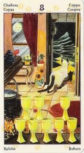 8 Кубков Таро Языческих Кошек (Tarot of Pagan Cats)