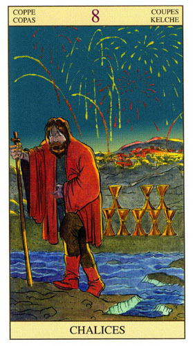 8 Масть Кубков Таро Нью Вижн (Tarot of the New Vision)