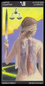 8 Правосудие - Таро Таттуаж - галерея карт