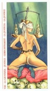 8 Правосудие - Таро Декамерон - галерея карт