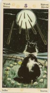 8 Масть Жезлов Таро Языческих Кошек (Tarot of Pagan Cats)