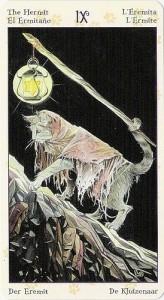 9 Отшельник Таро Языческих Кошек (Tarot of Pagan Cats)