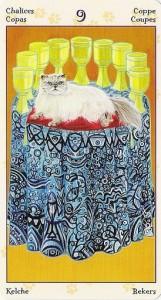 9 Кубков Таро Языческих Кошек (Tarot of Pagan Cats)