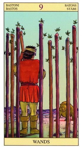 9 Масть Жезлов Таро Нью Вижн (Tarot of the New Vision)