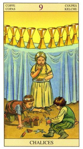 9 Масть Кубков Таро Нью Вижн (Tarot of the New Vision)
