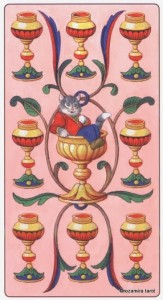 9 Кубков Таро Марсельских кошек (Marseille Cat Tarot)