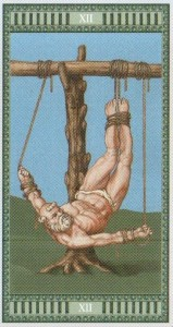 12 Повешенный Таро Микеланджело - галерея карт