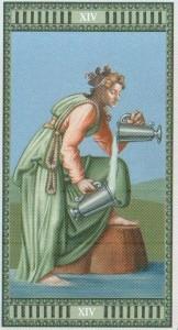 14 Умеренность Таро Микеланджело - галерея карт