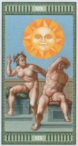 19 Солнце Таро Микеланджело - галерея карт