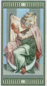 2 Жрица Таро Микеланджело - галерея карт