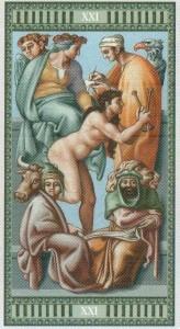 21 Мир Таро Микеланджело - галерея карт