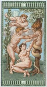 6 Влюбленные Таро Микеланджело - галерея карт