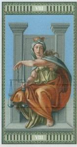 8 Правосудие Таро Микеланджело - галерея карт