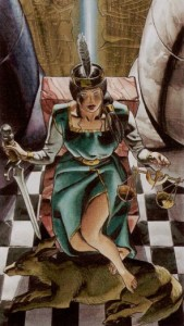 8 Правосудие Таро Ритуалы Ордена Золотой Зари - галерея карт